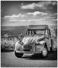 la 2CV mythique (Paloudan) Tags: lozère fortunio auto véhicules citroen 2cv noiretblanc flickr