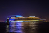 Sortie nocturne (Philippe POUVREAU) Tags: jaune saintnazaire rccl b34 symphonyoftheseas loireatlantique longexposure nuit night france phare lighthouse villèsmartin port harbour harbor essais seatrials sea ocean cruiseship shipbuilding shipyard chantiersatlantique stxfrance paysdelaloire navire paquebot chantiersnavals royalcaribbeancruises underconstruction