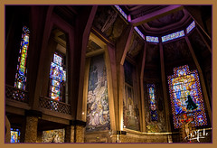 Eglise Art déco de Saint Jean Bosco / Art Deco church of Saint Jean Bosco - Paris XX (christian_lemale) Tags: saint jean bosco art déco artdéco paris xx france nikon d7100 église church architecture artdeco