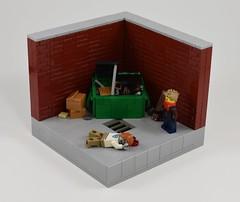 Survival (dzambito42) Tags: lego dumpster zombies