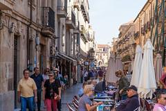 A Busy Street in Salamanca _3255 (hkoons) Tags: tormes river unesco world heritage site western europe castile helmantica leon salamanca spain