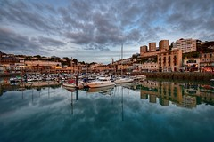 Evening reflections (Nige H (Thanks for 12m views)) Tags: nature landscape torquay harbour marina water sky cloud reflection england devon evening eveninglight