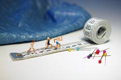 Running on pins and needles (Lutska) Tags: miniature figures figurines tiny people model railroad