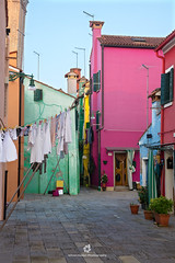 Colours of Burano (fesign) Tags: airdry architecture brightcolour building buildingexterior builtstructure burano city colourimage contrasts day door europe facade feature house italianculture italy laundry multicoloured nopeople outdoors photography residentialbuilding street travel traveldestinations unescoworldheritagesite veneto veniceitaly wall washingline window