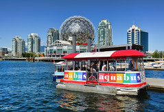 The Vancouver Aquabus - Village Ferry Dock/False Creek (SonjaPetersonPh♡tography) Tags: vancouver bc britishcolumbia canada downtownvancouver vancouverskyline vancouverharbour falsecreek burrardinlet ocean water waterscape waterfront boats boating aquabus scienceworld scienceworldattelusworldofscience telusworldofscience