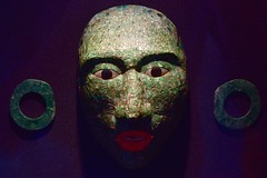 Funerary mask from Calakmul (orientalizing) Tags: 600800ad archaeologicalmuseum calakmul campeche funerary inlays jade lateclassic mask mayan mexico mosaic northamerica structureii tombi
