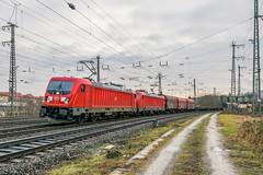 187 131 -8 187 117-7 DB Cargo Würzburg 02.02.18 (Paul David Smith (Widnes Road)) Tags: 1871318 1871177 db cargo würzburg 020218 doppeltraktion br187 traxx bombardier