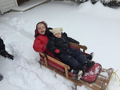 "Dani and Paul in the Sled • <a style=""font-size:0.8em;"" href=""http://www.flickr.com/photos/109120354@N07/25313295007/"" target=""_blank"">View on Flickr</a>"