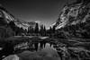 Yosemite high noon BW 3 (logical_j) Tags: sonya7rii sony californ yosemite monochrome bw bnw blackandwhite reflection mountaintop hillside lake mountain landscape
