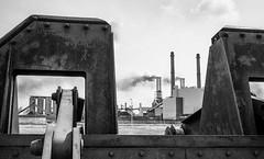 "Rotterdam refinery (Sailing ""Footprints: Real to Reel"" (Ronn ashore)) Tags: rotterdam holland refinery bw lebam7 leica35mmf28summaron trixinstol analog film europe wasteland 35mmphotography"