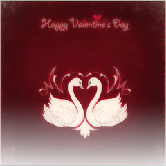 ~ Happy Valentine's Day ~ (Margaret S.S) Tags: happy valentines day card swans