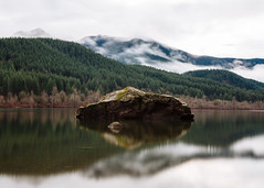 Solid (John Westrock) Tags: nature landscape longexposure reflection clouds rattlesnakelake washingtonstate pacificnorthwest canoneos5dmarkiii canonef2470mmf28lusm bwnd1000x