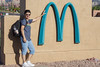 i'm lovin' it (mariola aga) Tags: arizona sedona mcdonald's m sign arches blue tealgreen turquoise me portrait thegalaxy