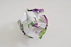 Campania Azure (Byriah Loper) (Byriah Loper) Tags: origami origamimodular modularorigami modular kusudama kami byriahloper paperfolding paper polygon polyhedron