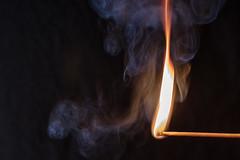 Es werde Licht. (rdeimel.photo) Tags: fire flame light lights germany smoke smokey macro dark black orange beautiful hot rdeimelmacro flames match burn burning warm lightart canon streichholz flamme rauch makro igniting closeup