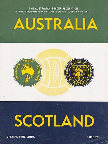 Australia vs Scotland - 1967 - Cover Page