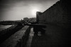 Coastal defence.... (Dafydd Penguin) Tags: cannon fort castle coastal defence garrison army town city urban coast sun sunset black white blackandwhite blackwhite monochrome mono noir bw nikon d610 nikkor 20mm af f28d
