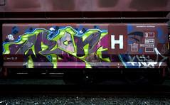graffiti on freighttrains (wojofoto) Tags: amsterdam graffiti vrachttrein freighttraingraffiti freighttrain cargotrain wojofoto wolfgangjosten wrong nederland netherland holland europe