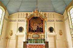 details, church Arjeplog.......3 photo's (atsjebosma) Tags: church pink interieur interior roze arjeplog lapland sweden zweden atsjebosma painting schilderij details altaar