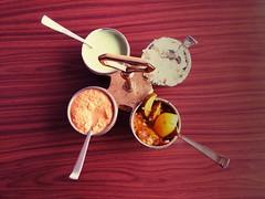 The chutney platter (Debmalya Mukherjee) Tags: motog3 debmalyamukherjee spices chutney breakfast threesacrowd flickrfriday