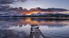 Isthmus Bay, Derwent Water (scholey_greg) Tags: sunset derwent water mountains fells lakes lakedistrict thelakedistrict uk cumbria catbells pier landscape landscapes nikon