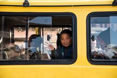 After school (rfabregatmoliner) Tags: durbar square bhaktapur kathmandu nepal nepalese kid happy smile yellow bus school travel travelphotography nikon d750 nikkor lenses street streetphotography