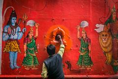 Wall Art (Vilvesh) Tags: cwc chennaiweekendclickers varanasi incredibleindia uttarpradesh vibrantvaranasi wallart spiritual god shiva people belief nikond750 tokina1735 cwctravelwalk colors colorwall