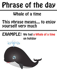 whale of a time (phrase of the day)