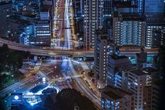 The crossings (karinavera) Tags: city longexposure night photography cityscape urban ilcea7m2 japan roppongi tokyo traffic crossings