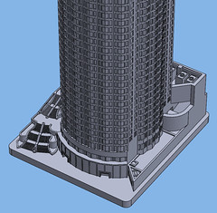 1:2000 US Bank Tower Base (Doctor Octoroc) Tags: us bank tower los angeles california ca united states building skyscraper structure architecture 3dprinting shapeways