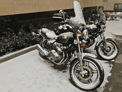 #Winter #SaintPaul #Instafilter #Motorcycles #Hondas #iPhoneography
