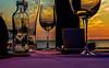 14-06-06 NL ame sonunt stilll dsc00653-1 (u ki11 ulrich kracke) Tags: ameland glas hollum horizont pastell sh sonnenuntergang spiegel tisch twunscharf nl drinks crazytuesdaytheme 7dwf