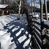 fenced snowy shadows (Mange J) Tags: k3ii clear fence forrest fotosondag fotosöndag nature shadow snow staket winter wood wooden värmlandslän sverige se fs180225
