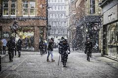 White stuff (tootdood) Tags: canon6dmkii manchester police street white stuff snow cold streetcandid
