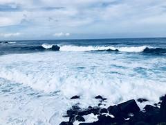 19 (theblackdahlia27) Tags: portugal azores island terceira exploring honeymoon adventure waves crashing foam clouds volcanic