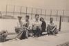 Page 72, no. 2: Tennis court group (InstaDerek) Tags: 1920s balboaisland monochrome boys teenagers teens orangecounty newportbeach california tennis tenniscourt rackets girl bay harbor