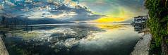 Morning has broken (Pejasar) Tags: mission guatemala college 2015 lakeattítlan sunrise sun lake clouds mountains landscape painterly paintcreations artistic art