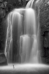 Mono Falls (darrenball189) Tags: park foliage wood waterfallnature waterfalllandscape waterfalldetail waterfallforest waterfalls backgroundwaterfall power spray cascading woodland photography nobody lumsdale derbyshire peak matlock beautiful beauty flora flow forest kravice landscape national nature outdoor scene scenery season water waterfall mono monochrome blackandwhite thisisexcellent