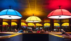 Electric Umbrella #epcot 2018 (Mickey Views) Tags: disney dining night 2018 wdw disneyworld disneyphotography electric umbrella disneydining epcot colors colorful lights