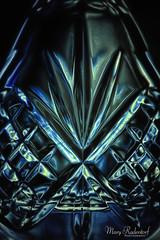 Sculpted Dark Glass. (mraderstorf) Tags: glass decanter 36539 abstract nikond700 aqua reflect lowkey crystal strobe blue nikonsb900 dark nikon105mmf28macro green 365project vase project365 geometric macro