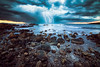 S T O R M I N G • L I G H T (Dominique Richeux Photography) Tags: eclair tempete storm light lightning seascape landscape waterscape clouds sky sea mer ocean waves rocks rochers