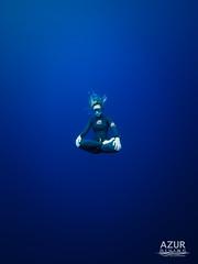 Lotus Pose Zen Underwater (William Rhamey) Tags: freedive apnée zen lotus underwaterphotos underwater blue champion mind over matter centering meditation concentration
