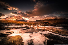 The Cauldron (Richard Walker Photography) Tags: clouds landscape nature rocks scotland snow river glencoe sunset highlands mountains buachaille