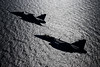 Aquila silhouettes (hepic.se) Tags: aquila eagle gripen fighter jet reflection water sea sweden spring weapon wings sun aircraft airtoair airforce airplane aviation air altitude aviator airborne action flying formation silhouette jetwash kallinge baltic pair saab swedishairforce april recce military monochrome