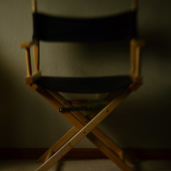 Five Minutes, Mr. DeMille (MPnormaleye) Tags: chair bokeh soft focus blur black wooden utata 50mm spark lensbaby seeinanewway