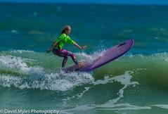 Longboarder (mylesfox) Tags: surfer surfing longboard sea ocean board waves girl