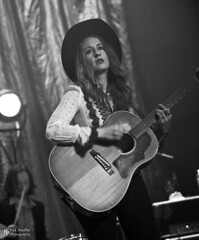 Margo Price @ Neptune Theater (Kirk Stauffer) Tags: kirk stauffer photographer nikon d5 adorable amazing attractive awesome beautiful beauty charming cute darling fabulous feminine glamour glamorous goddess gorgeous lovable lovely perfect petite precious pretty siren stunning sweet wonderful young female girl lady woman women live music tour concert show stage gig song sing singer vocals vocalist perform performing musician band lights lighting indie country long brown hair brunette red lips white teeth model tall fashion style portrait photo smile smiling playing guitar black