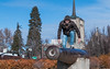 Climbing on the Cannon (The.Mickster) Tags: cannon boise idaho buildings park hereios city art downtown