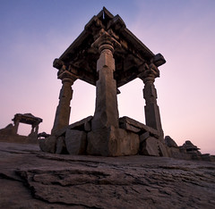 Top Standing (malhotraXtreme) Tags: hampi karnataka bangalore bengaluru india old architecture temple stone sunset sunrise