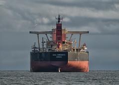 Azul Horizonte (westcoastcaptures) Tags: ship freighter ocean pacific esquimaltlagoon clouds mountains olympicmountains